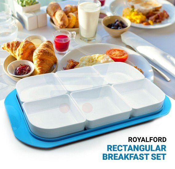 RoyalFord Rectangular Breakfast Set - RF7168