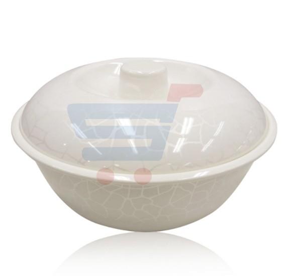 Royalford Melamine Ware 10.5 Bowl White Pearl - RF5092