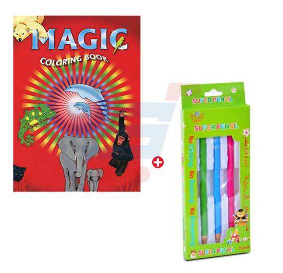 Combo Offer Magic Coloring Book And Pencil Box