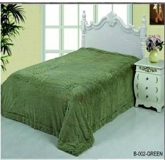 Senoures Classic Blanket Double 220X240CM - B-002 Green