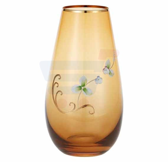 Bohemia Crystal Glass Vase 255 mm Yellow