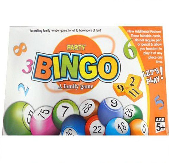 A Family Game Party Bingo