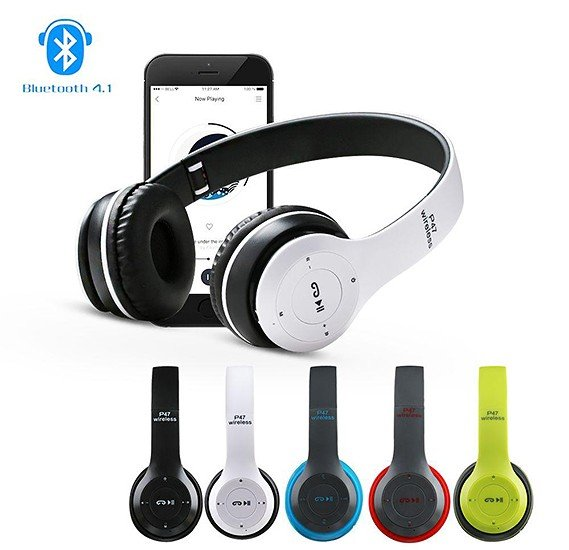 Buy P47 Wireless Bluetooth Headset With Microphone Online Qatar Doha Ourshopee Com Oj1852