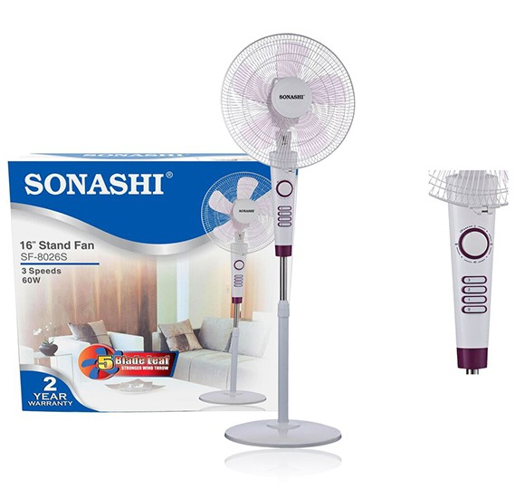 Sonashi 16 inch Stand Fan, SF-8026S