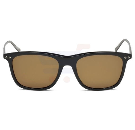 Mont Blanc Aviator Black Frame & Brown Mirrored Sunglasses For Men -MB600S-01M