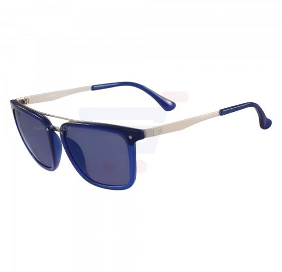 Calvin Klein Cat Eye Electric Blue Frame & Blue Mirrored Sunglasses For Unisex - CK1214S-502