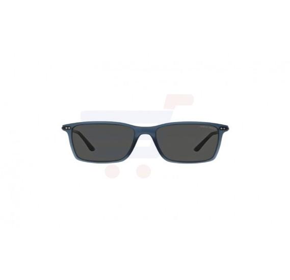 Giorgio Armani Rectangular Blue Frame & Blue Mirrored Sunglasses For Unisex - 0AR8045-533687