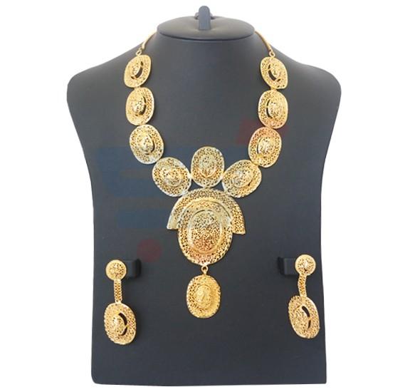 cc5b571726 Buy Miraya Arts 18K Gold Plated Necklase Sets -MR121 Online Dubai, UAE |  OurShopee.com 4961