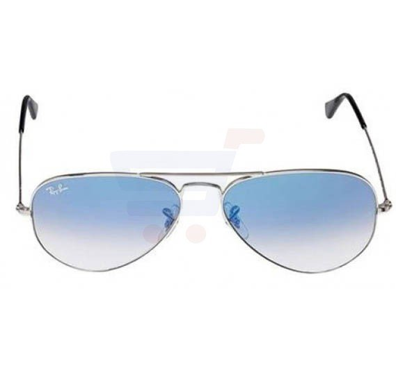 Buy Ray-Ban Aviator Silver Frame & Light Blue Mirrored Sunglasses ...