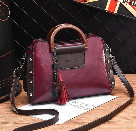 2020 New Style Joker Fashion Diagonal Crossbody Bag Wine Red