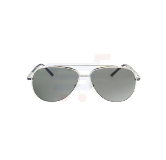 Mont Blanc Aviator Silver Frame & Smoke Mirrored Sunglasses For Men - MB511S-16A