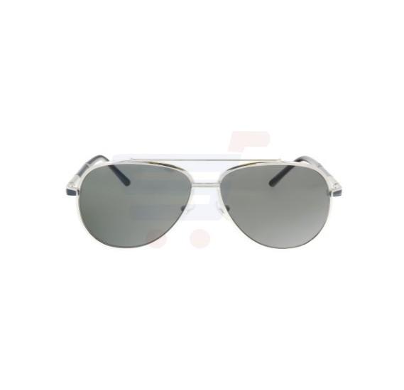 32e47963295 Mont Blanc Aviator Silver Frame   Smoke Mirrored Sunglasses For Men -  MB511S-16A ...