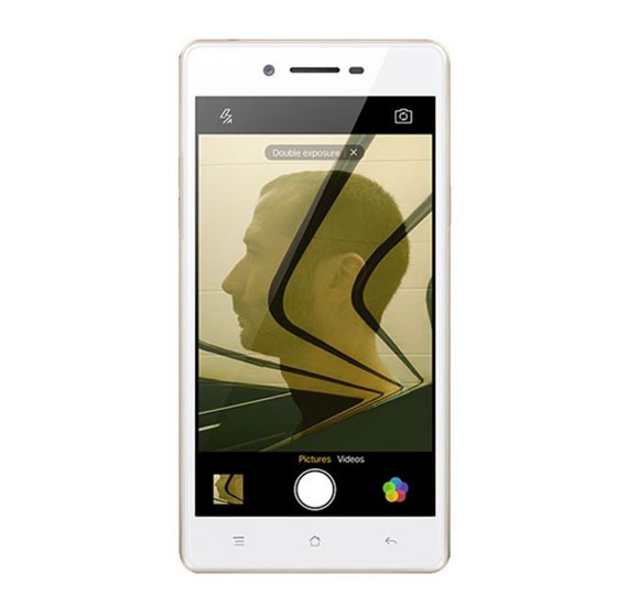 Oppo Neo 7 Plus Smartphone 4G LTE Android 5 1 4 1 to 5 inches HD Display  1GB RAM 16GB Storage Dual Camera Dual Sim Wifi - White