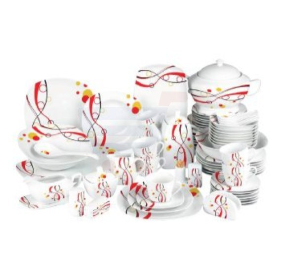 Flamingo Porcelain Square Type Dinner Set 79 PCS - FL7711PDS