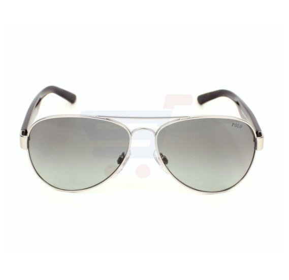 Ralph Lauren Aviator Silver - Havana Frame & Black Gradient Mirrored Sunglasses For Men - PH3096 - 901011