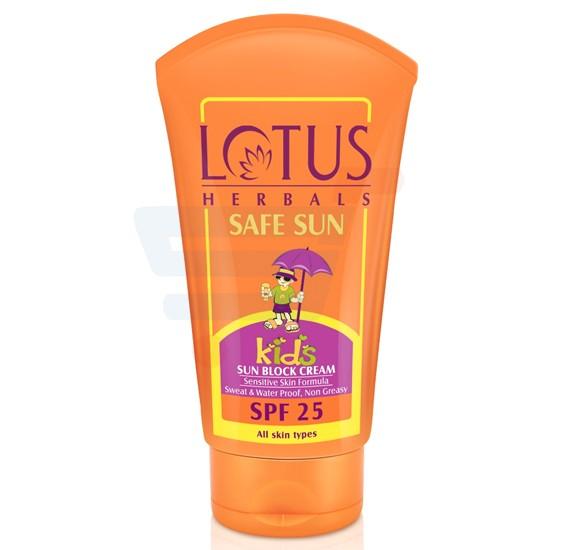 Lotus Safesun Kids Sun Block Cream Spf-25 100g