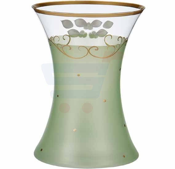 Bohemia Crystal Glass Vase 255 mm, Green