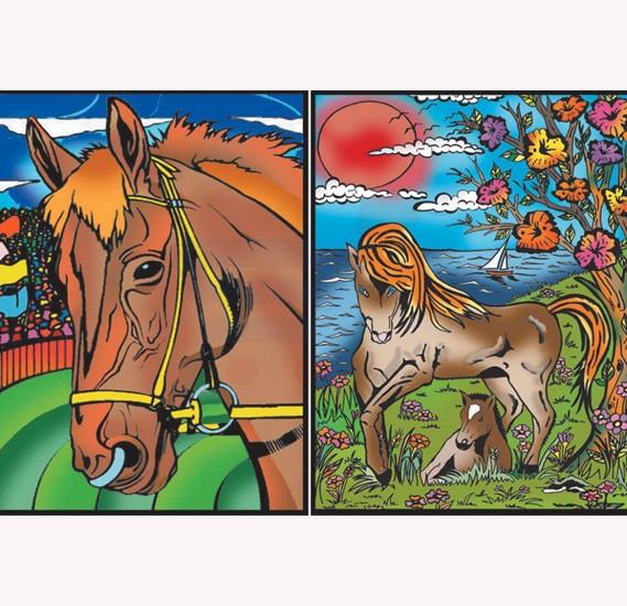 Buy Color Velvet Ring Binder Horses