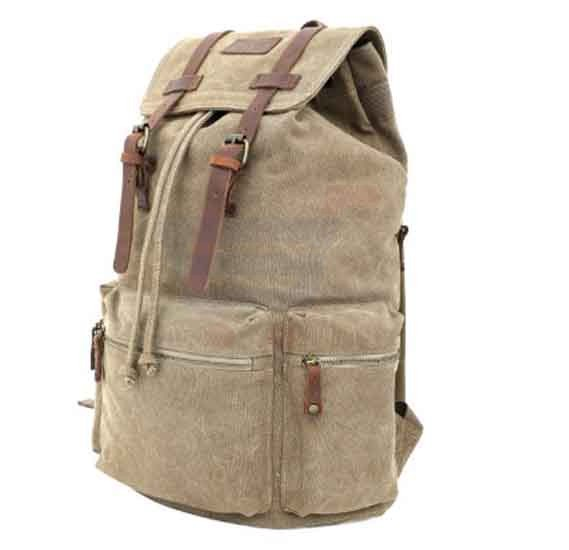 Para John Canvy Backpack Khaki - PJBP6609