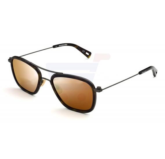 G-Star Square Havana Frame & Gradient Mirrored Sunglasses For Unisex - GS111S-214