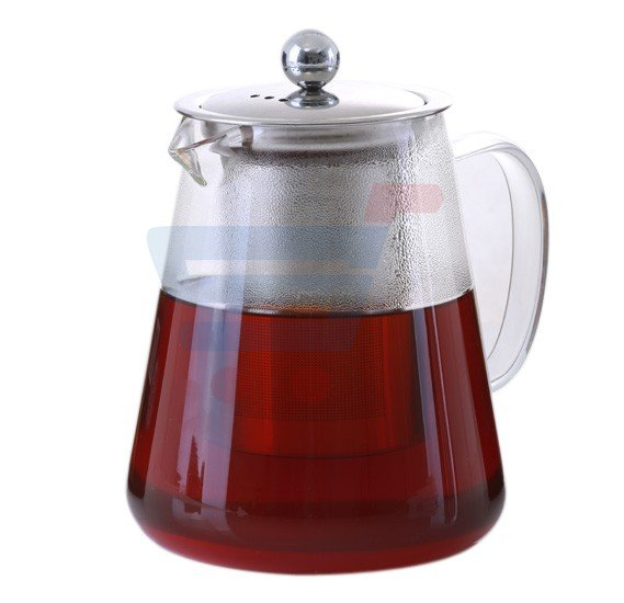Royalford Glass Tea Pot With Stainless Steel Strainer 960ML - RF8264