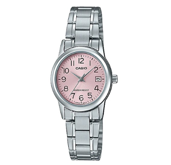Casio Stainless Steel Watch For Women, LTP-V002D-4BUDF