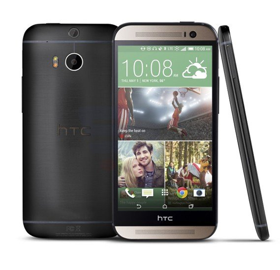 HTC One M8 Smartphone,  Android OS, 5.0 Inch Full HD Display, 2GB RAM, 32GB Storage, Bluetooth, WiFi, Quad-core, Dual Camera - Grey