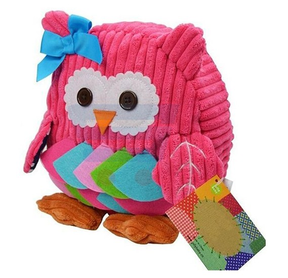 Cute Lightweight Soft Plush Owl Kids School Bag