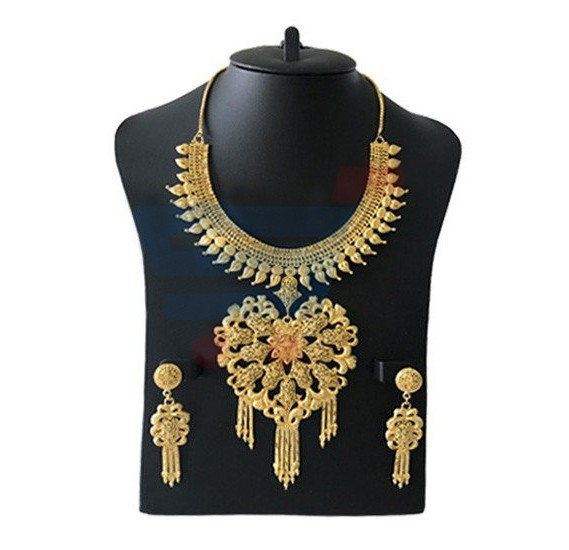 Buy Flora Jewelry 22k Gold Plated Ladies Luxury Flower Design