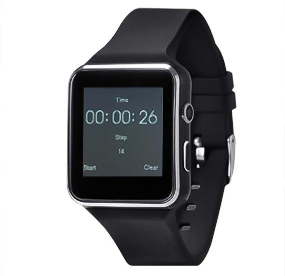 Zooni X6 Bluetooth Smart Watch Mobile Black