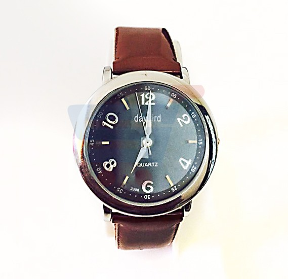 Quartz-Daybird Brown Strap Watch For Ladies