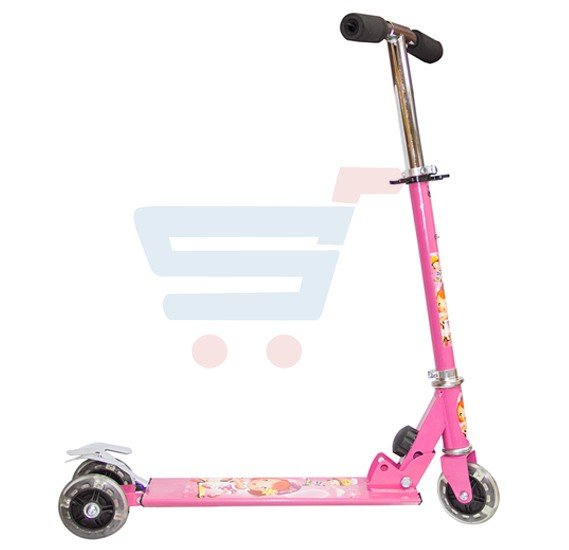 Kids 3 Wheel Scooter With LED Light SC-5307-Pink
