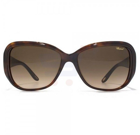 Chopard Oval Havana Frame & Brown Mirrored Sunglass For Women - SCH148S-09XK