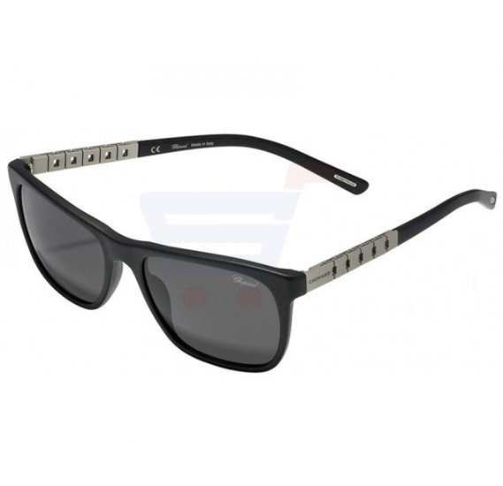 Chopard Oval Black Matt Frame & Grey Sunglass Mirrored For Men - SCH152-703P