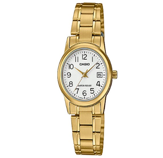 Casio Stainless Steel Watch For Women, LTP-V002GL-7B2UDF