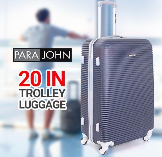 Para John 20 Inch Trolley Luggage, Blue- PJTR3045