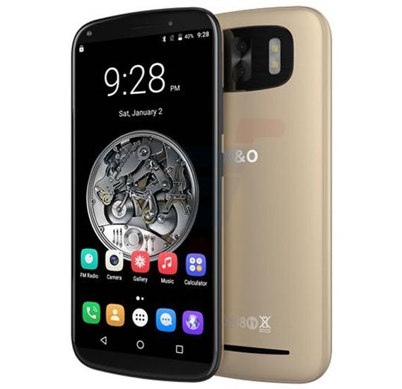 W&O X3 Smartphone, 4G, Android OS, 6 Inch HD Display, 3GB RAM, 32GB Storage, Dual Camera- Gold