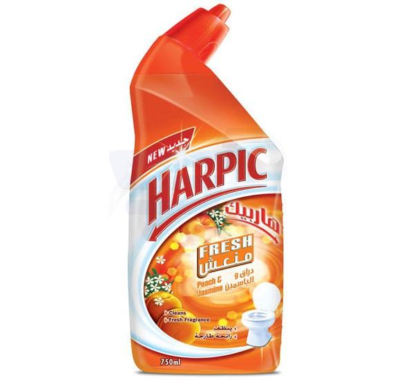 Harpic Fresh Peach and Jasmine Liquid Toilet Cleaner 750ml