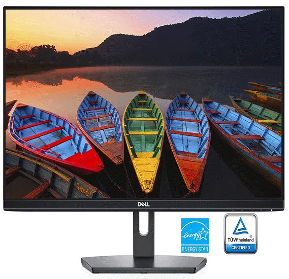 Dell SE2419H S-Series Full HD 1920 x 1080 Pixel LED IPS Monitor with 3 Sided Narrow Bezel, VGA, HDMI - Black