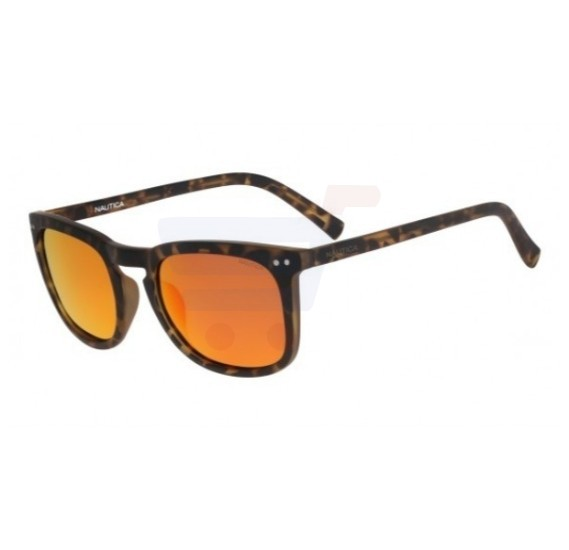 Nautica Square Dark Havana Frame & Orange Mirrored Sunglasses For Men - N3613SP-212