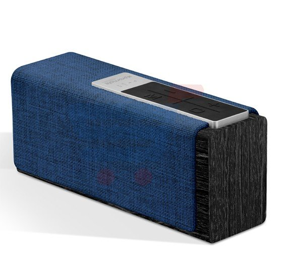 Promate Wireless Bluetooth Speaker, Fabric Bluetooth Wifi Wireless Portable Speaker with Internet Radio and Built-in Mic, SD Card Slot, USB Input, AUX Line-In – StreamBox-L Blue