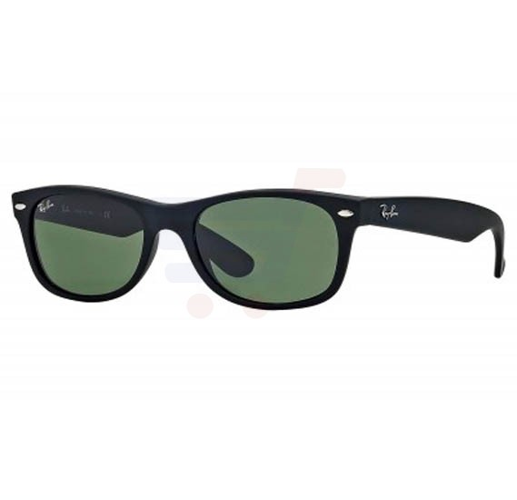 Ray-Ban Wayfarer Black Frame & Classic Green Mirrored Sunglasses For Women - RB2132-622-55