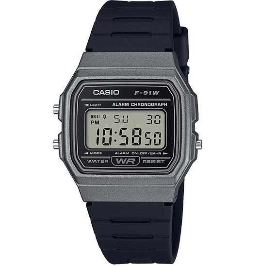 Casio F-91WM-1BDF  Casual Action Clock Unisex Digital Resin