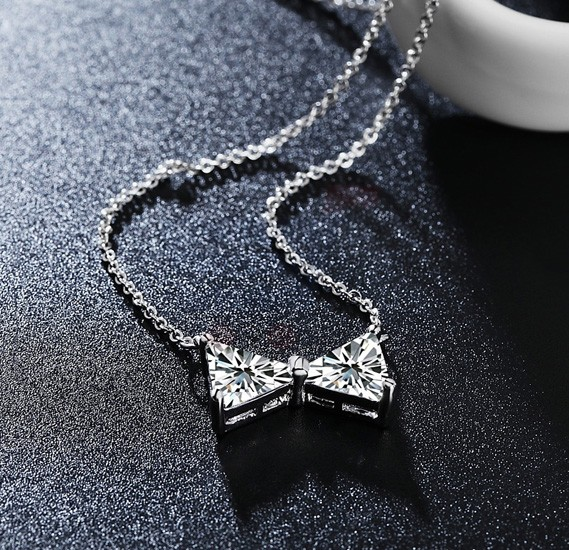 Tiara Elements Bow Shaped Crystal Necklace - UN0111B