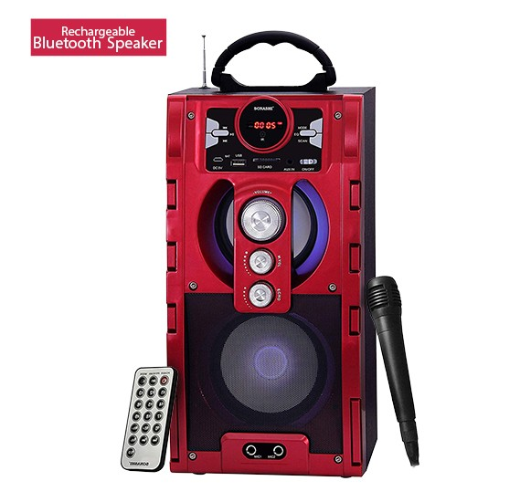 Sonashi Rechargeable Bluetooth Speaker Red, SBS-707