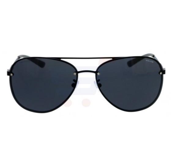 Police Aviator Black Frame & Grey Mirrored Sunglasses For Unisex - SPL379-531P