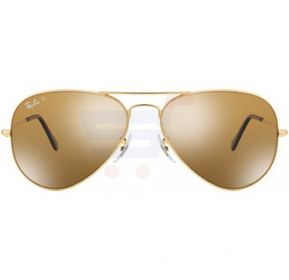 Ray-Ban Pilot Gold Frame & Polarised Brown Mirrored Sunglasses For Unisex - RB3025-001-57-58
