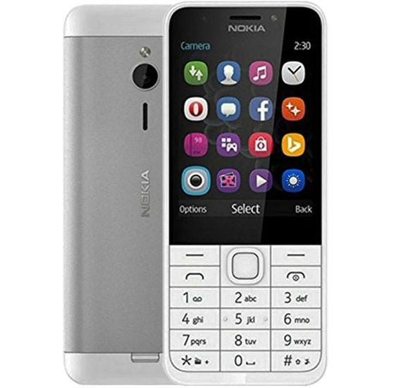 Nokia 230 Dual Sim 16MB RAM 32GB  Dual Camera- Silver