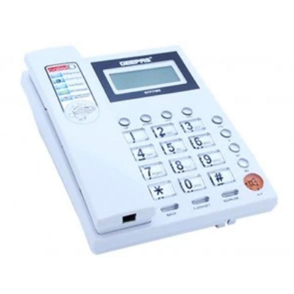 Geepas Caller Id Telephone,16 Rings Sele1x20, GTP7185