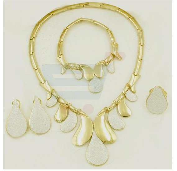 Yellow Gold Plated Necklace jewelry Set For Women